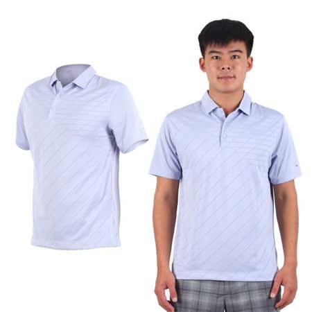(男) NIKE GOLF 排汗短袖針織衫- 高爾夫球 POLO衫 立領 T恤 紫