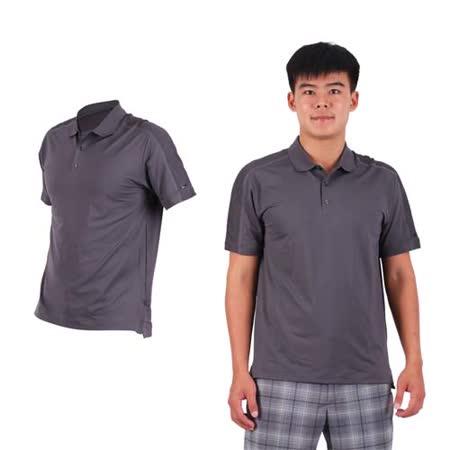 (男) NIKE GOLF 排汗短袖針織衫- 高爾夫球 POLO衫 立領 T恤 深灰