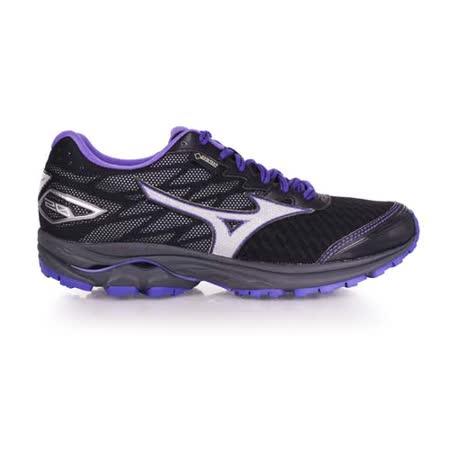 (女) MIZUNO RIDER 20 G-TX 越野慢跑鞋-GORE-TEX 美津濃 黑紫