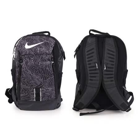 NIKE 後背包-雙肩包 旅行 可攜17吋筆電 黑白灰 F