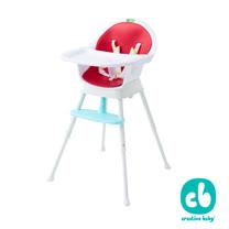 【Creative Baby】創寶貝-三合一成長型餐椅 紅色★送環保矽膠圍兜