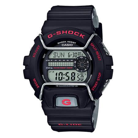 【CASIO 卡西歐】G-SHOCK G-LIDE 耐低溫運動多功能腕錶(50mm/GLS-6900-1)