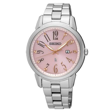 【SEIKO 精工】LUKIA 愛戀時光太陽能不鏽鋼女用腕錶(32mm/V137-0CG0P)