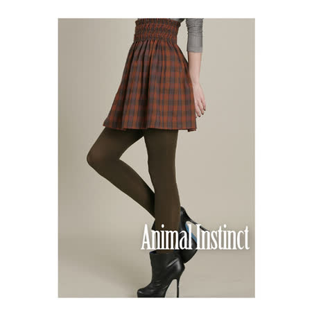CHICA 學院風格紋纖腰羊毛短裙(共二色)-磚格