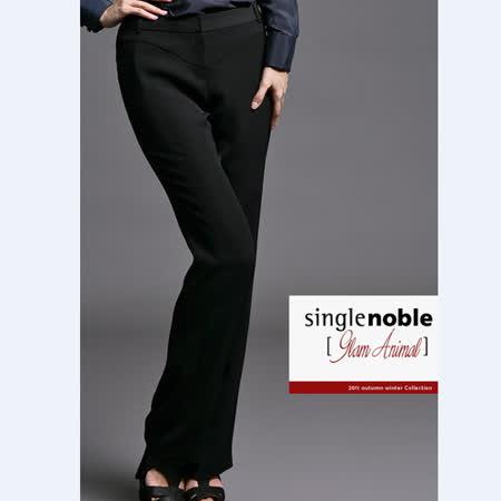 獨身貴族 摩登黑系 時尚OL西裝長褲(共一色)-黑色