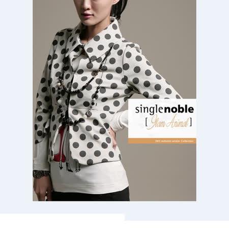 獨身貴族 復古原點 可愛造型小外套(共一色)-淺卡黑點