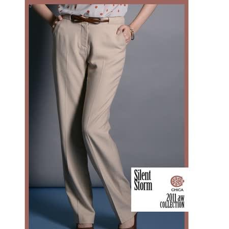 CHICA OL必備 完美比例西裝褲(共二色)-卡其
