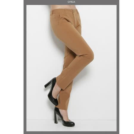 CHICA 獨立意識 簡約翹臀長褲(共二色)-棕色