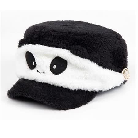 【PS Mall】買一送一 保暖卡通熊貓口罩絨毛棒球帽(J177)