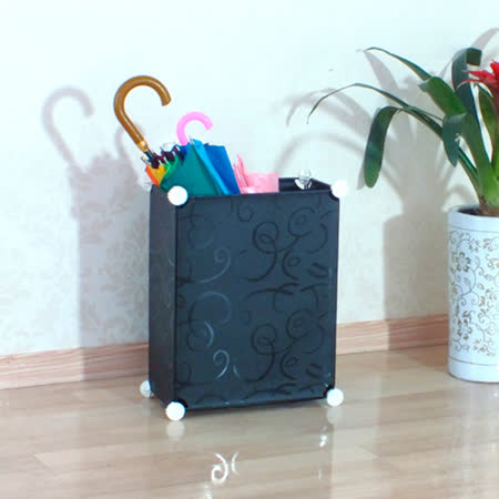 PUSH! 居家生活用品防水耐髒防霉雨傘架雨傘桶收納桶I39黑色