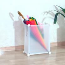 PUSH! 居家生活用品防水耐髒防霉雨傘架雨傘桶收納桶I39-1白色