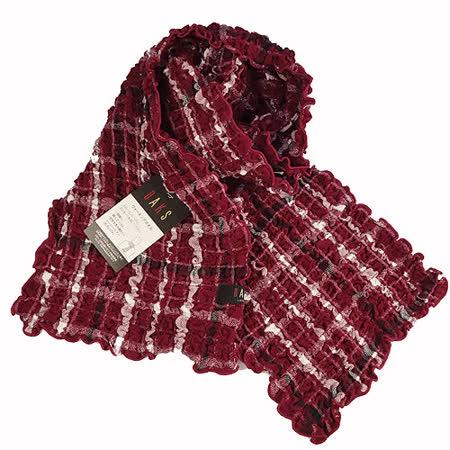 DAKS捲捲圍巾-紅