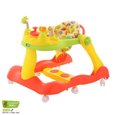 Creative Baby 糖果版多功能三合一音樂折疊式學步車助步車★下單送環保矽膠圍兜