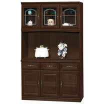 HAPPYHOME 義昇胡桃4尺碗櫥櫃組UZ6-379-4
