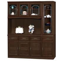 HAPPYHOME 義昇胡桃5.3尺碗櫥櫃組UZ6-380-1