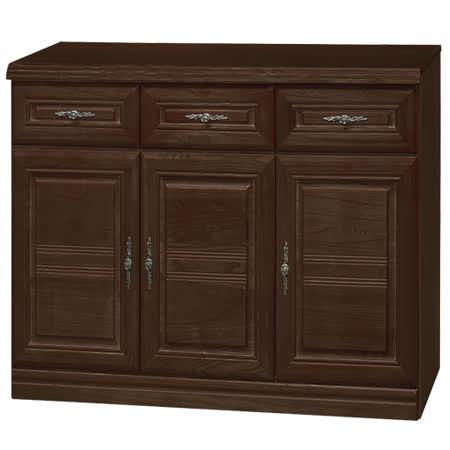 HAPPYHOME 義昇胡桃4尺碗櫥櫃UZ6-380-5
