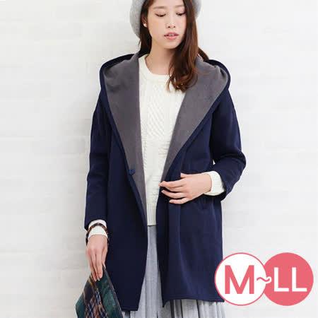 日本Portcros 預購-側開襟連帽內刷毛外套(共兩色/M-LL)