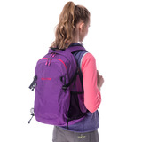 【hilltop山頂鳥】中性款多功能休閒背包T28X07紫