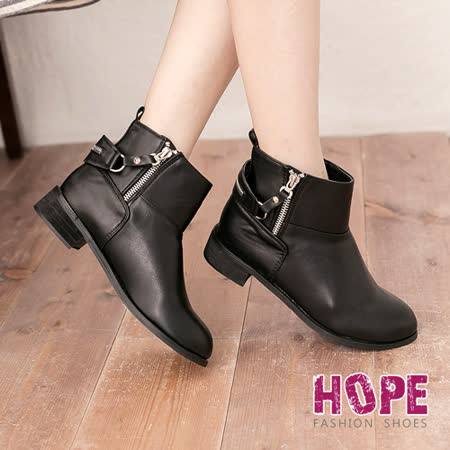 【勸敗】gohappy【HOPE】環繞拉鍊式造型皮靴-黑【K167B2756】價錢屏 東 太平洋 百貨
