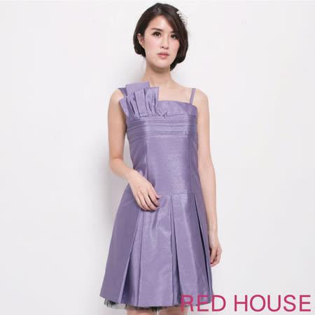 【RED HOUSE-蕾赫斯】立體剪裁禮服式背心洋裝(紫色)