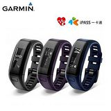 GARMIN vivosmart HR iPass 腕式心率智慧手環 黑色 / 紫色