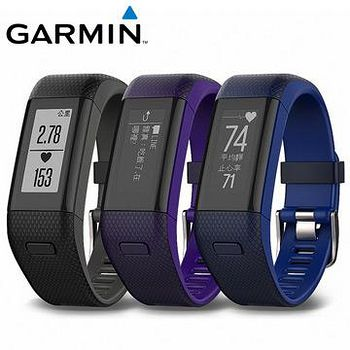 GARMIN vivosmart HR+  腕式心率GPS智慧手環 黑色 / 紫色 / 藍色