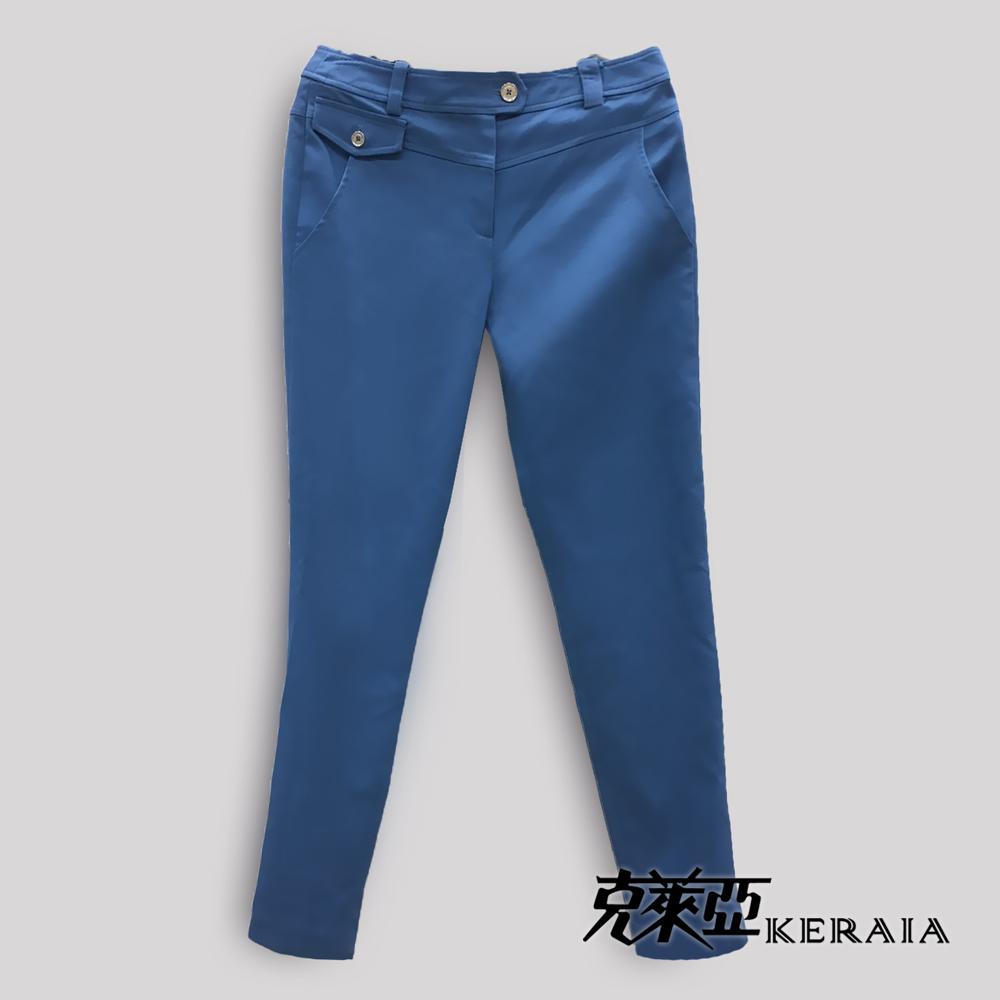 【克萊亞KERAIA】褲口設計感修身長褲