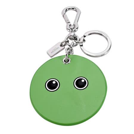 COACH EMOJI GOOGLY鬼臉雙釦鑰匙圈(草綠)