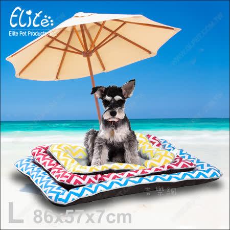 【2入組送玩具】新一代!美國Elite《波浪冰絲寵物涼墊L》柔軟舒適又散熱