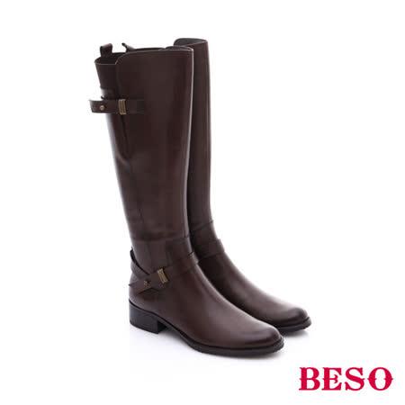 【開箱心得分享】gohappy線上購物BESO 都會摩登女郎 真皮雙飾扣軍風長靴(咖啡)好用嗎高雄 遠 百 威 秀 影 城