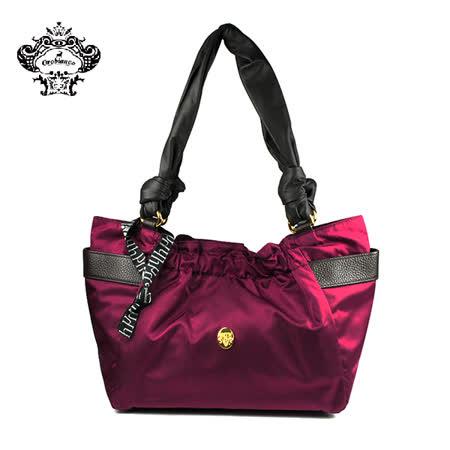 【HAKKIN】HABEL-HK1 01簡約時尚褶皺女包 紫紅色(O7028-C)