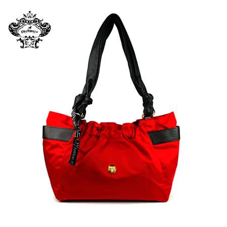 【HAKKIN】HABEL-HK1 01簡約時尚褶皺女包 紅色(O7028-D)