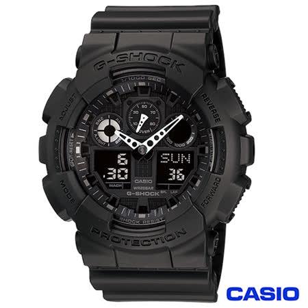 CASIO卡西歐 G-SHOCK大錶徑個性重型機械感運動腕錶 GA-100-1A1