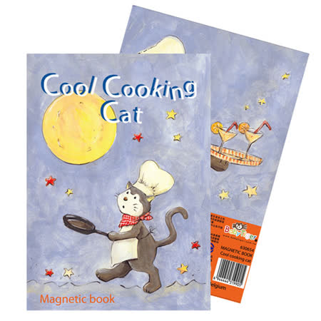 【BabyTiger虎兒寶】比利時 Egmont Toys 艾格蒙繪本風口袋遊戲磁鐵書 - 酷貓廚師
