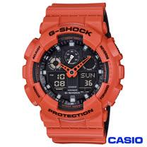 CASIO卡西歐 G-SHOCK超人氣大錶徑雙層撞色設計腕錶 GA-100L-4A