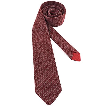 GUCCI 菱格紋純棉造型領帶-紅色