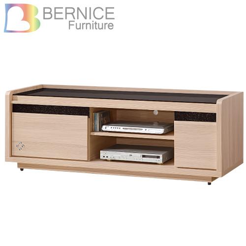 Bernice~卡爾頓5尺二抽電視櫃長櫃^(黑色強化玻璃面^)