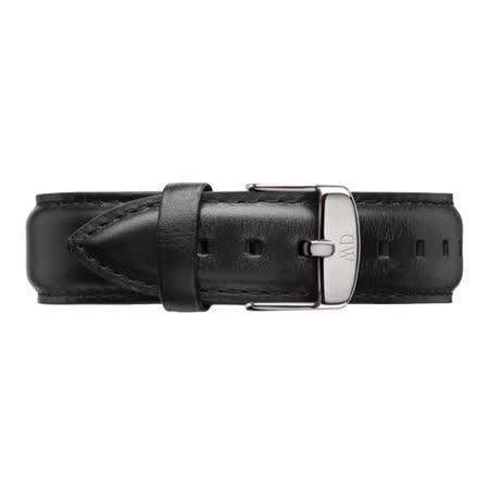 DW Daniel Wellington 時尚黑色皮革錶帶/20mm(0406DW)