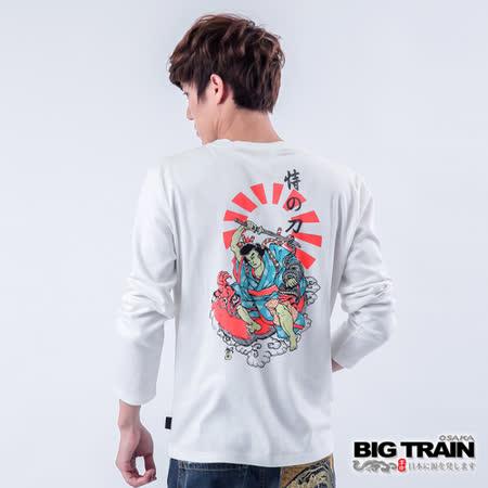 BIG TRAIN 恃之刀魂印花TEE-白