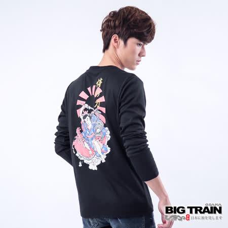 BIG TRAIN 恃之刀魂印花TEE-黑