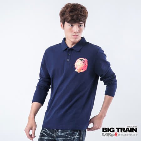 BIG TRAIN 達磨騰雲POLO衫-深藍