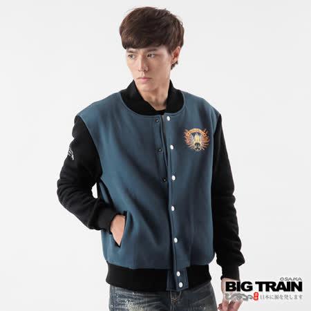 BIG TRAIN 雙翼青鬼棒球外套-深藍
