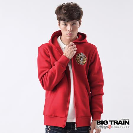 BIG TRAIN 菊丸墨達人連帽外套-紅