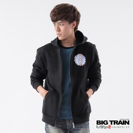 BIG TRAIN 菊丸墨達人連帽外套-黑