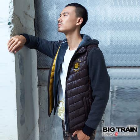 BIG TRAIN 超輕量赤青絲棉背心-深咖