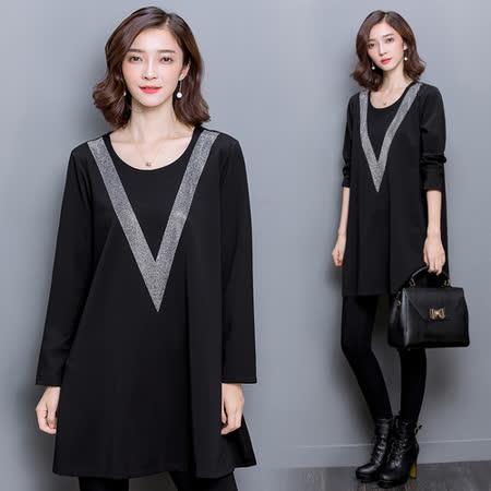 【韓國KW】簡約時尚寬鬆連身裙