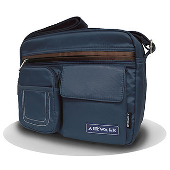 AIRWALK多功能側背包-藍色