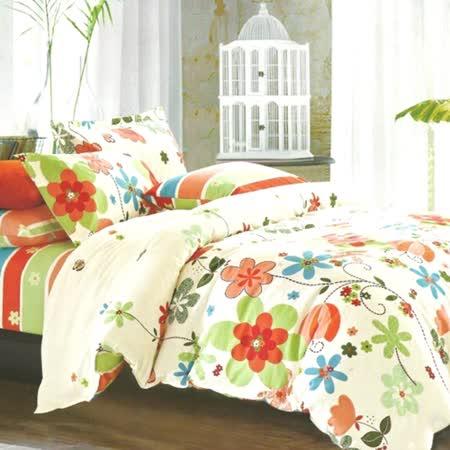 美夢元素 精梳棉涼被床包組 漫漫飛舞-單人三件式