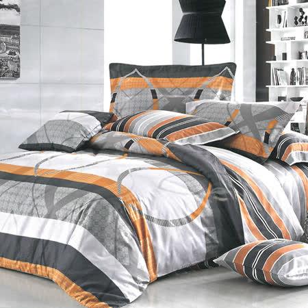 美夢元素 精梳棉涼被床包組 傾城華爾滋-雙人四件式