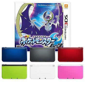 3DS (預購含夢幻特典)NEW 3DS LL 主機 +《精靈寶可夢:月亮》※送原廠變壓器、抗刮保護貼 日版日文版(日規機專用)